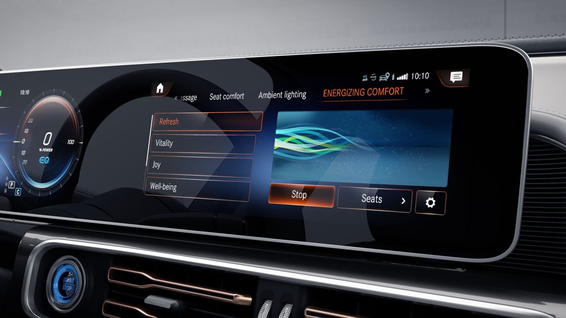 Display system of THE LATEST MERCEDES BENZ EQC AVAILABLE AT 1 CR