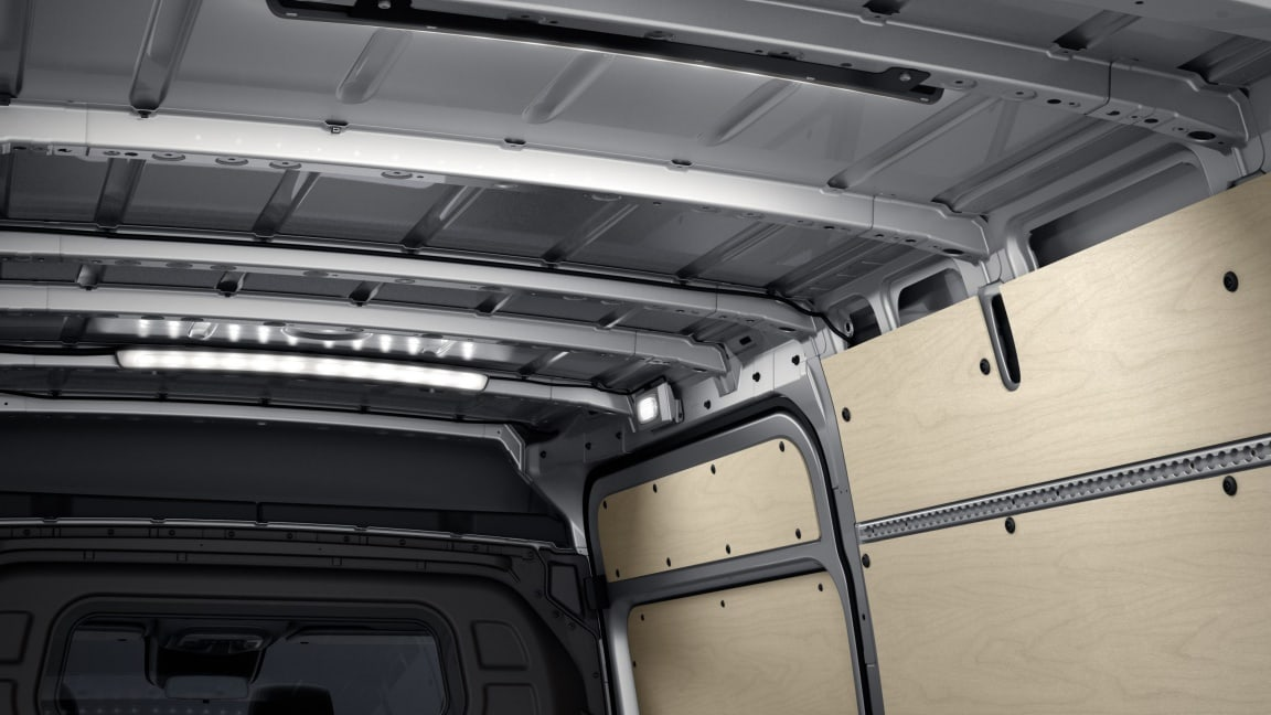 Sprinter Panel Van, LED light, load compartment