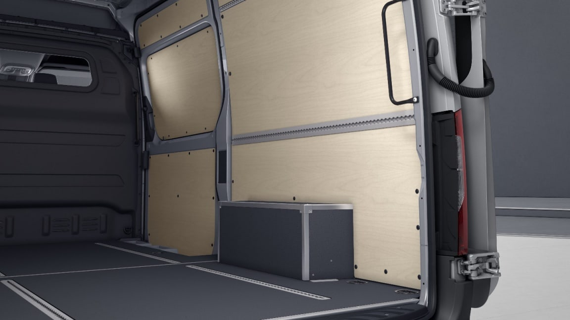 Sprinter Panel Van, loadable wheel arch