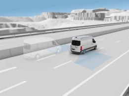 Sprinter Transfer Minibus, blind spot assist
