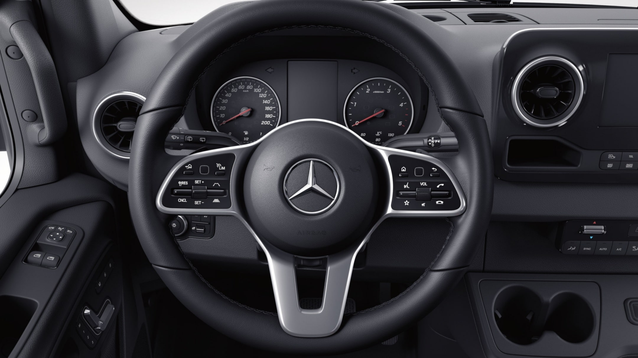 Sprinter Transfer Minibus, multifunction steering wheel