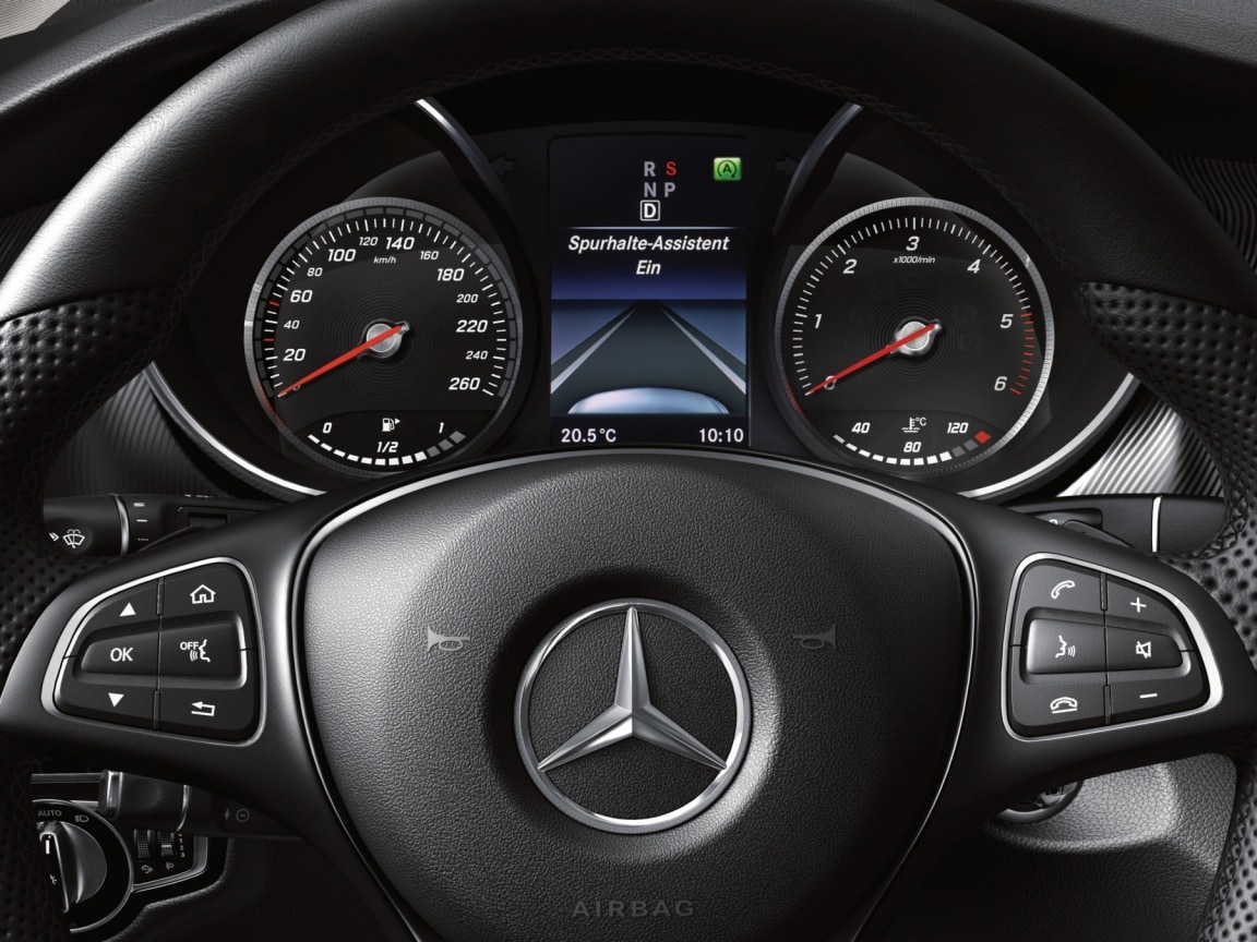 V-Class, Intelligent Drive Technology, Lane keeping assist, Safety