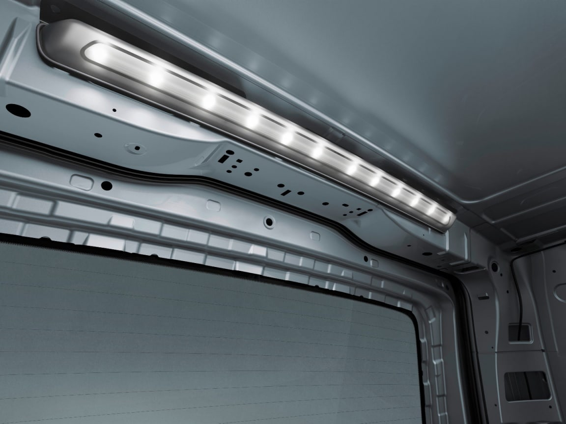 Vito panel van, LED light strip in load compartment