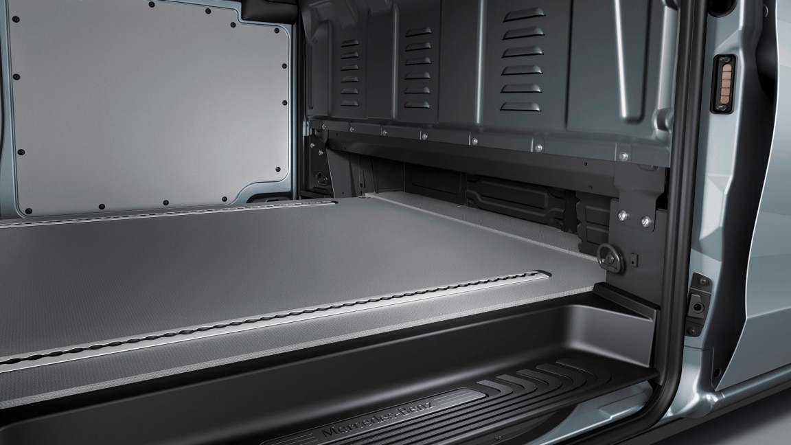 Vito panel van, features, under-seat storing capability