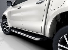 X-Class, POWER Line, polished stainless steel side bar